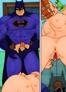 Batman does justice fucking sexually frustrated Gotham women