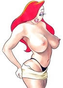 Tiny Jessica Rabbit sharing jizz