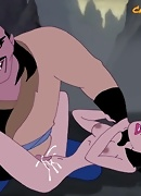Mulan ass raped by Mongol Khan Shan-Yu. He fingers her pussy and chokes her!